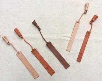 Leather Bookmark, Personalized Bookmark, Leather Book Mark, Custom Made Bookmark