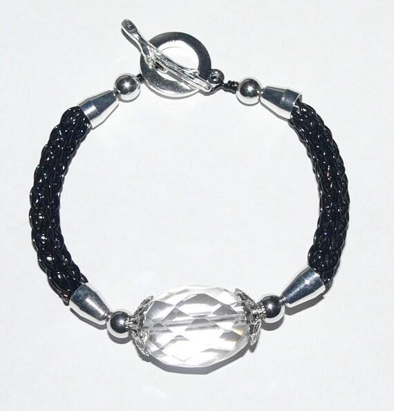 Knitting Jewelry Kits : Viking knit bracelet kit and tutorial black artistic wire