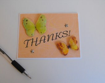 Thanks Card with Butterflies
