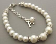 Childrens personalized bracelet, flower girl personalized bracelet, flower girl jewelry, flower girl gift, wedding jewelry