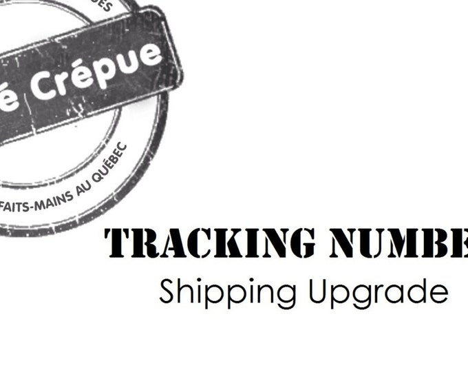 Add a tracking number to your international order - USA and Other countries