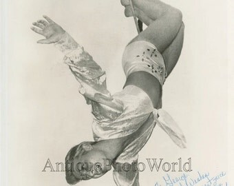 Kenneth Dodd Heel and Toe Trapeze circus artist acrobat vintage signed photo