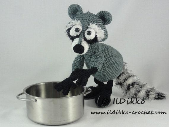 Amigurumi Raccoon : Amigurumi Crochet Pattern Rupert the Raccoon
