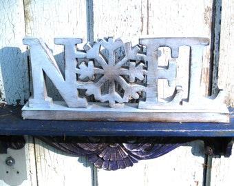 Noel Freestanding,Noel Wood Sign,Christmas Decoration,Country Christmas,Rustic Christmas,Christmas Gift Idea,Wooden Sign,Salvaged Wood Sign