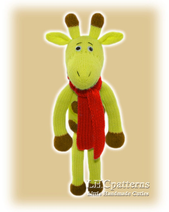 Knitting Pattern Toy Giraffe : Giraffe Knitted Toy Pattern (an extremely soft, huggable and cute toy) from L...