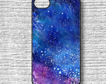 Galaxy iphone6 case, Blue cosmic iphone6plus, Watercolor iPhone 5 Case, iPhone 4 Case, iPhone 4s Case, Samsung Galaxy s4 s3, Cover