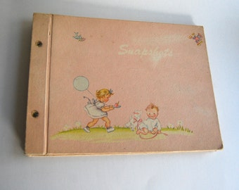 Vintage Baby Album, Baby Shower Gift