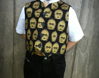 Boys Vest C3PO Theme