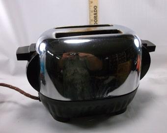 Working Toaster Bakelite Ever Bright Kitchen Queen  Mid Century Tortoise Shell Look, .epsteam