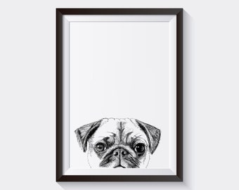 Pug - A5 Print