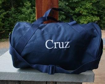 Monogram Duffel Bag Personalized Navy Gym Duffle