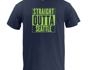 Straight Outta Seattle (Lime) - Navy