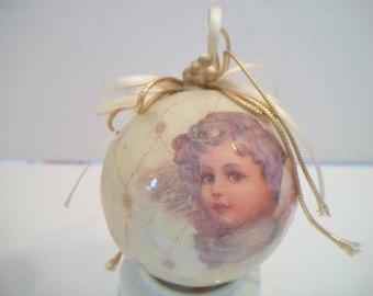 Victorian Cherub Christmas Ornament Taiwan