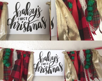 Babys First Christmas Banner