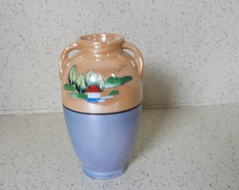 Hand Painted Luster Ware Vase