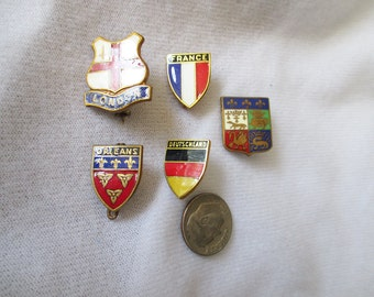 1984 Olympic Country pins - Lot of 5 - Estate find!