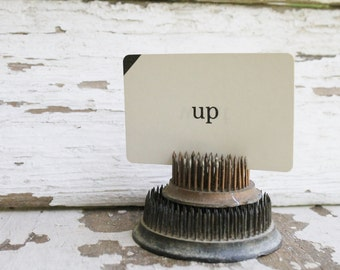 Vintage Word Flash Card Farmhouse Country Shabby Chic Decor Game UP