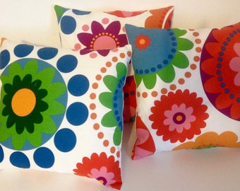 Ikea Fabric Cushion Pillow Cover Retro Vintage Style Floral 16''  18''  20''  22''  24''  12 x 20''