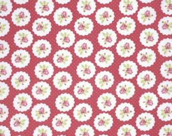 Tanya Whelan 'Lulu Roses' Lotti in Red Cotton Fabric