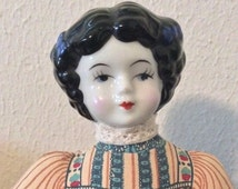 Pre-Holiday Sale American Avon Heirloom Doll, avon doll, collectors doll, heirloom doll, Victorian doll, lavender sachet, avon collectable,