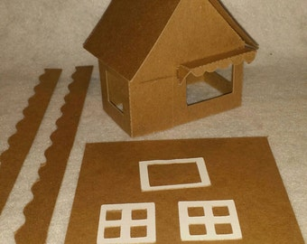 Little Village Cardboard Christmas Putz Houses- Shop