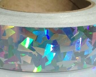 "1"" Rainbow Kaleidoscope Metallic Hula Hoop Tape"