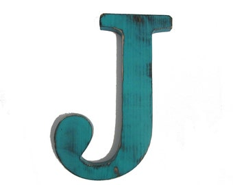Letter J Rustic Wall Letter Wood Sign Wall Decor Rustic Americana Chic Wedding Photo Prop Nursery Kids Decor