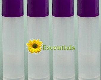 Natural Lip Balm Tube w/ Purple Cap - 10 Pack