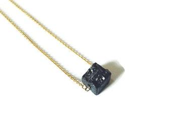 Pyrite choker necklace - modern minimalist jewelry - gemstone jewelry - dainty - everyday necklace - rhodium
