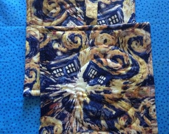 Dr. Who Tardis Potholders set of Two