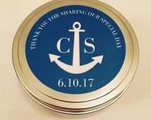 4oz Tin - Personalized Wedding Favor Handcrafted Soy Candles - Set of 12