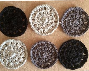 Crocheted Coasters-Gray