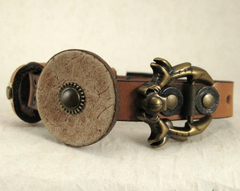359 Celestial Steampunk Burning Man Assemblage Palimpsest Bracelet Recycled Jewelry Industrial Machine Age