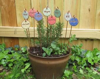 Herb Marker - Oregano - Herb Stake - Handmade - Herbs - Unique - Herb Stakes - Plant Markers - Garden Art - Garden Gift