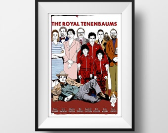 The Royal Tenenbaums Poster A4 - Art Print