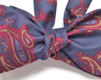 Silk Bow Tie for Men - Franklin - One of-a-Kind, Handtailored, Self-tie - Free Shipping