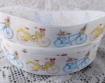 Bike Ribbon 7/8 bicycle grosgrain ribbon