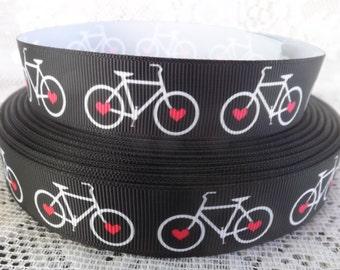 Bicycle Ribbon 7/8 bicycle grosgrain ribbon love bikes ribbon
