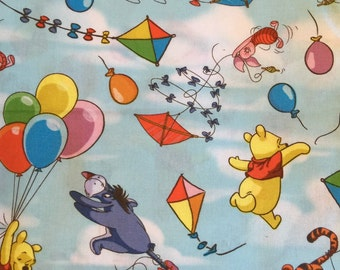 Winnie the Pooh 100% cotton fabric for bassinets oval or round