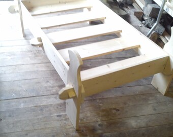 child size (under 10's ) viking flatpack wooden slat bed re-enactment larp