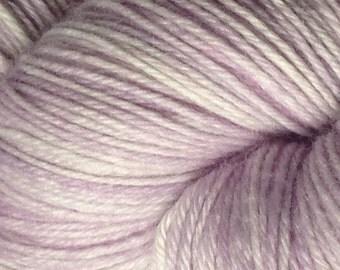 Hand Dyed superwash Sock yarn in Lavender Variations