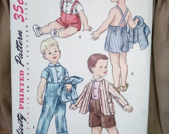 Toddlers shirt, jacket & pants Vintage Sewing Pattern Simplicity 1483 Boys size 4** Uncut** on sale** free ship