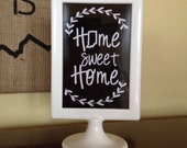 Home Sweet Home - Indiana State - Double Sided Frame, 4x6in, white