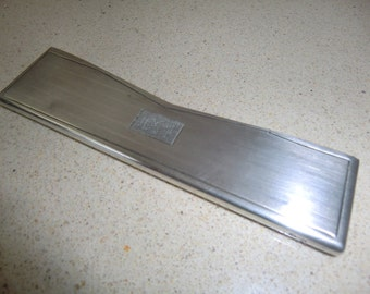 Sterling silver hair comb case, marked