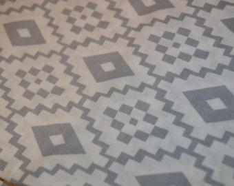 Gray Tribal Fitted Crib Sheet or Changing Pad Cover