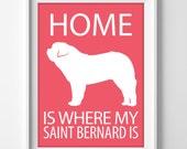 "8x10"" Saint Bernard Art, Saint Bernard Print, Saint Bernard Gift, Pet Wall Art Print, Saint Bernard Decor, Beethoven Dog, Saint Bernard Dog"