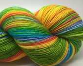 Kaleidoscope Handpainted merino nylon sock yarn- OOAK just for you!