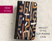 Phone case - Abstract African Textile - Wallet style flip case - iPhone 4,5,6,6Plus,SE & Samsung Galaxy S3,S4,S5,S6,S7 Edge, Note 5