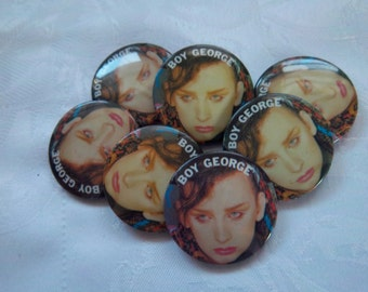Large lot of Boy George pins