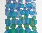 "Watercolor painting - modern wall hangings ""Soft Hues"" - Original Painting"